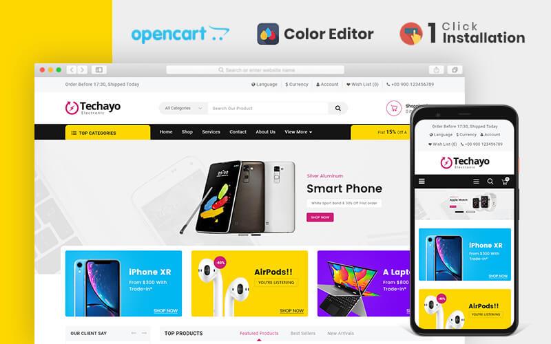 Techayo Electronics Store OpenCart Şablonu