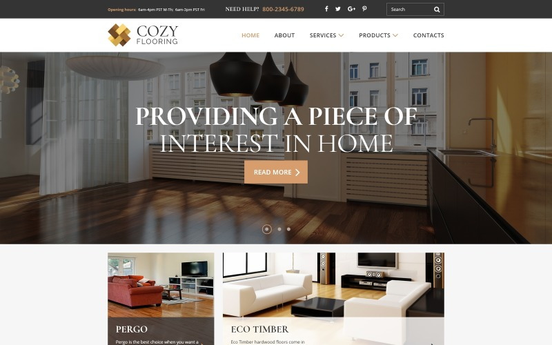 COZY - Flooring Materials Responsive Modern HTML Website Template