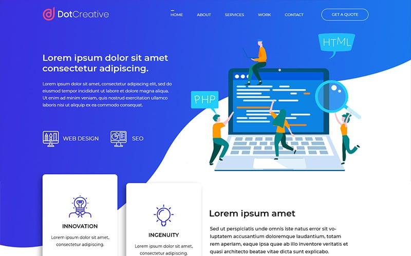Dotcreative - Web Design Company PSD Template
