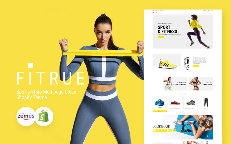 Fitrue - Sports Store Multipage Clean Shopify Theme