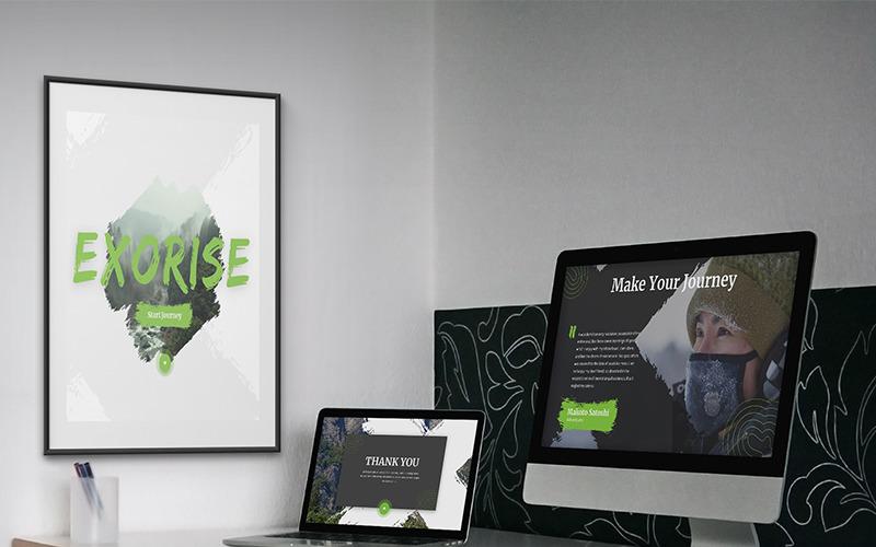 Exorise Creative Powerpoint Template 82078