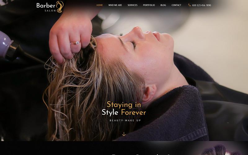 Barber Salon - Modello PSD per barbieri e parrucchieri