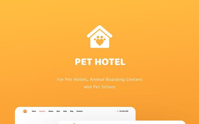 Motyw WordPress - hotele dla zwierząt, internaty dla zwierząt i opiekunki zwierząt domowych - PetHotel