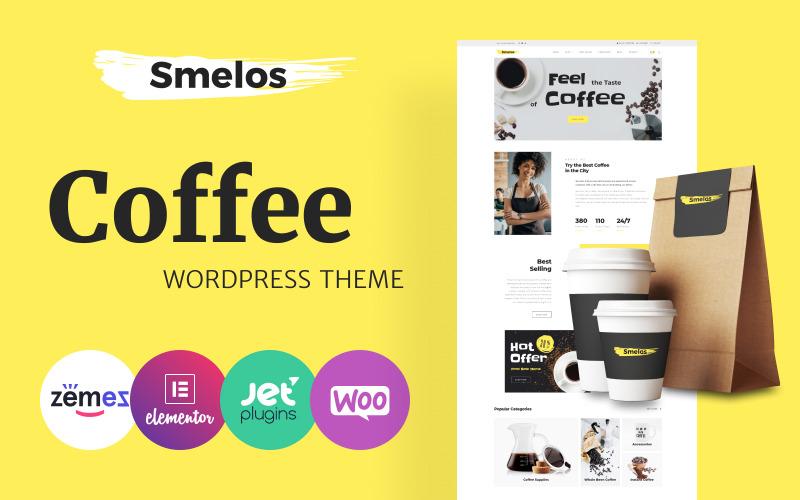 Smelos - Kávézó e-kereskedelem Klasszikus Elementor WooCommerce téma