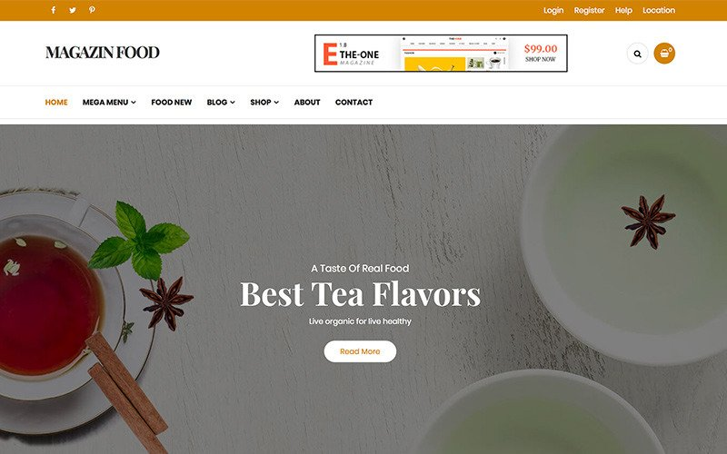 Magazine - Thème WordPress du blog alimentaire
