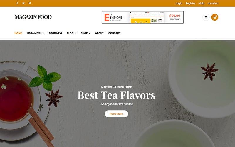 Magazine - Food Blog WordPress-thema