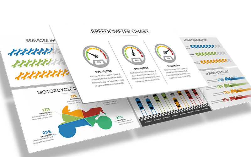 Automotive Infografika Szablon programu PowerPoint