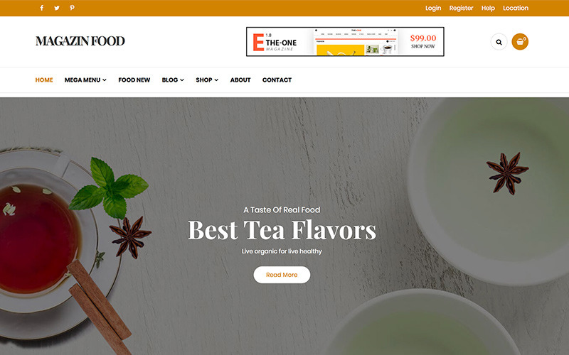 Magazine - Tema WordPress per blog di cibo