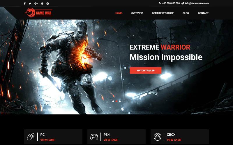 游戏大战-游戏门户PSD模板