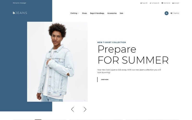 BJeans - Jeans E-commerce Modern OpenCart Template