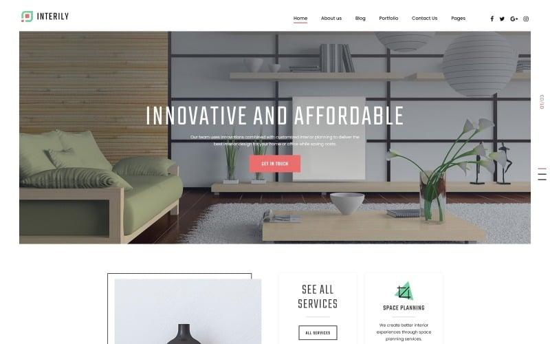 Interily - Interior Design E-Commerce Modern Joomla Template