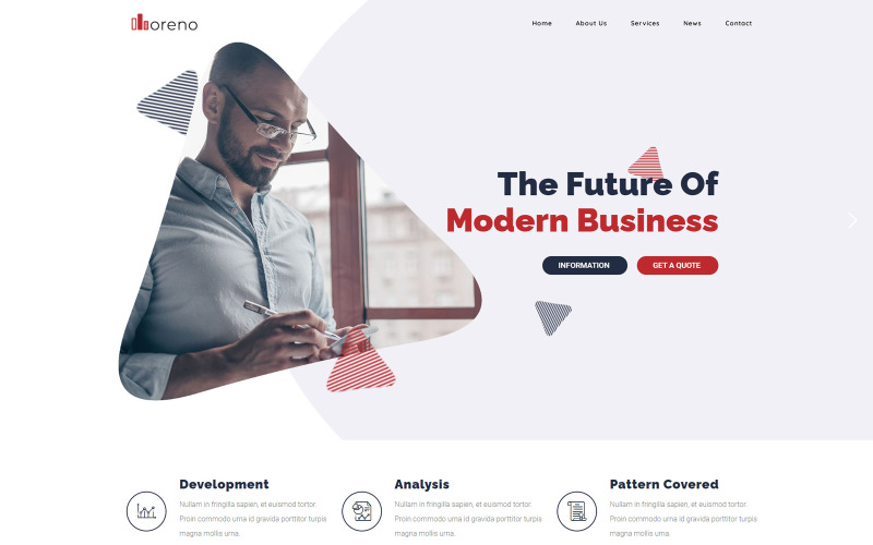 Moreno - современная бизнес-тема WordPress