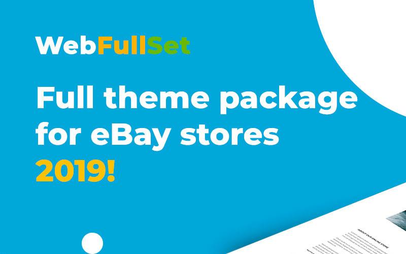 Šablona eBay WebFullSet MinimalShop