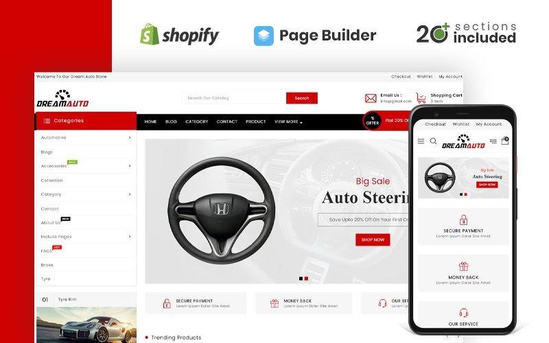 Tema Dream Auto Parts Shopify