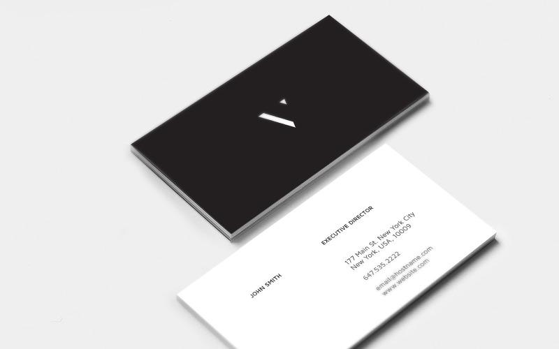 Классические визитки - шаблон фирменного стиля