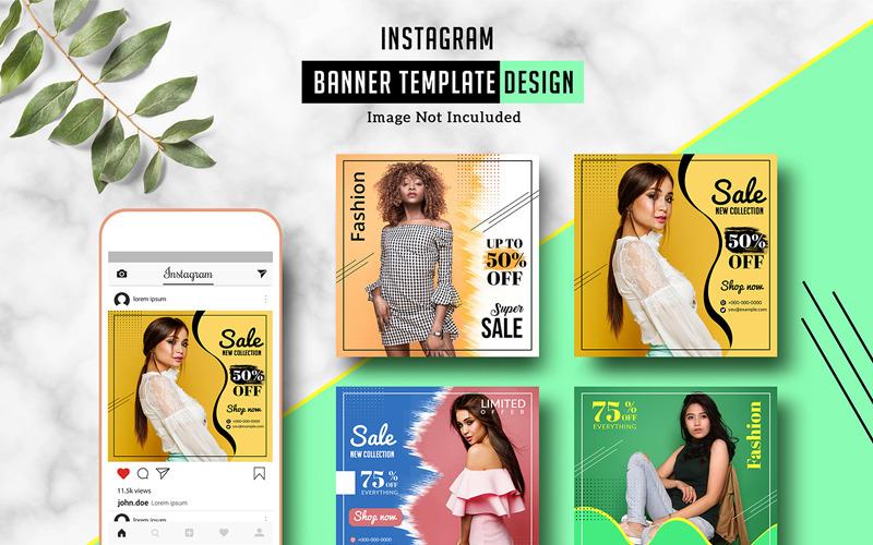 Fashion Sale Instagram Banner Social Media Template