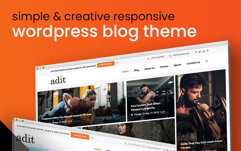 Adit - Blogging Made Easy Tema de WordPress