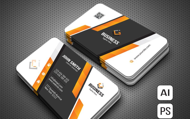 Corporate Professional Business Card - Corporate Identity Template