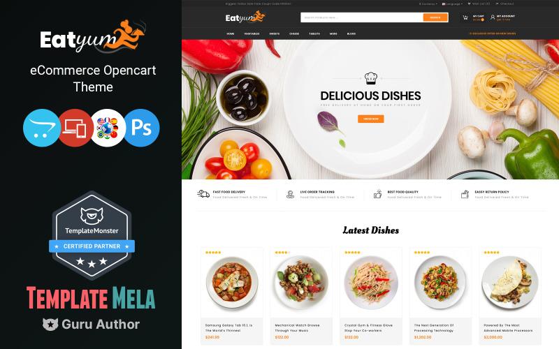Eatyum - Restaurant Shop OpenCart-sjabloon