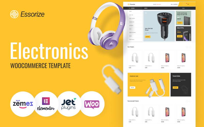 Essorize - Electronics ECommerce Klasyczny motyw Elementor WooCommerce