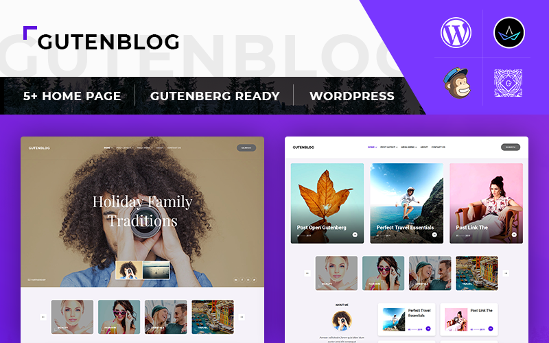 GutenX : Personal Blog WordPress Theme