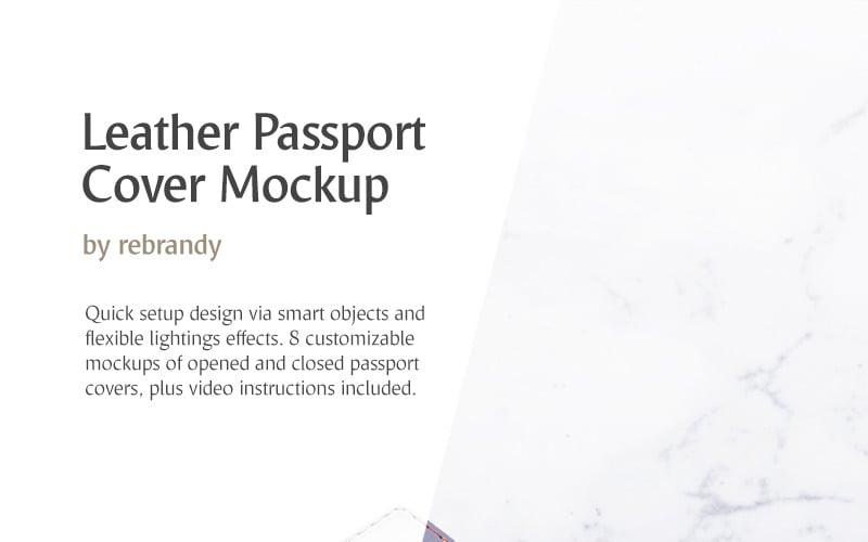 皮革护照套产品样机