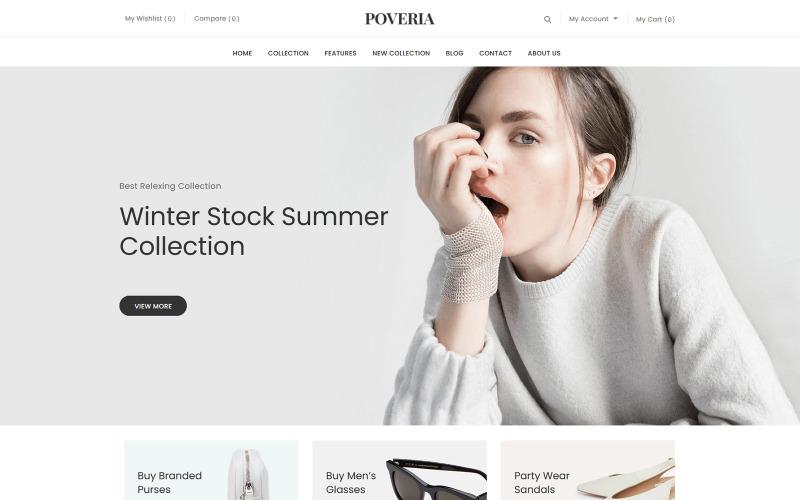 Poveria - Tema Shopify da Loja de Moda
