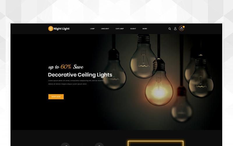 Szablon OpenCart sklepu z oświetleniem