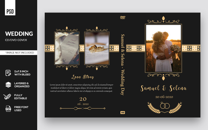 Wedding DVD Cover - Corporate Identity Template