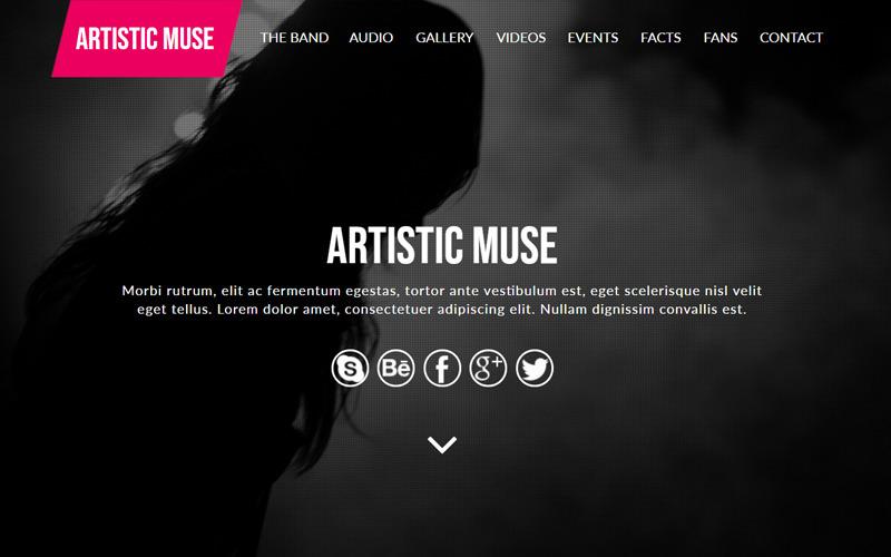 Művészi zenekar Muse sablon
