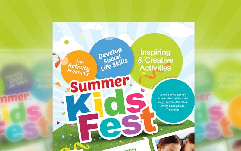 Kids Fest - Kids Summer Camp Flyer - Corporate Identity Template