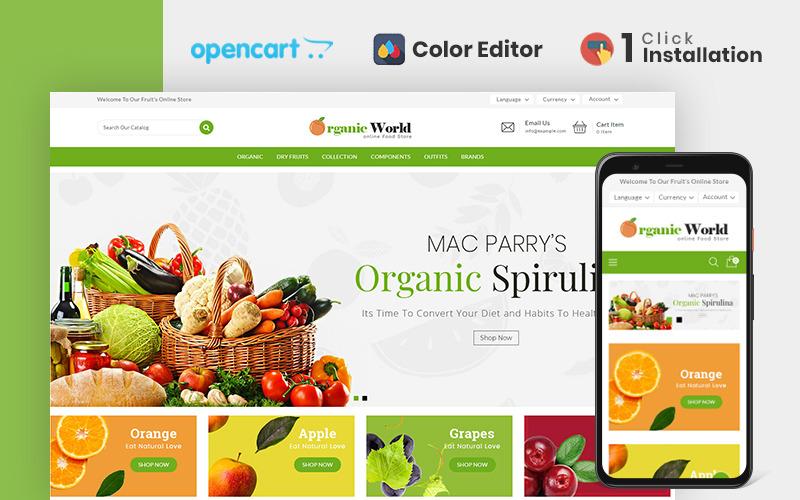 Szablon OpenCart sklepu spożywczego Organic World