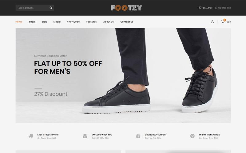 Footzy - Cipőbolt WooCommerce téma