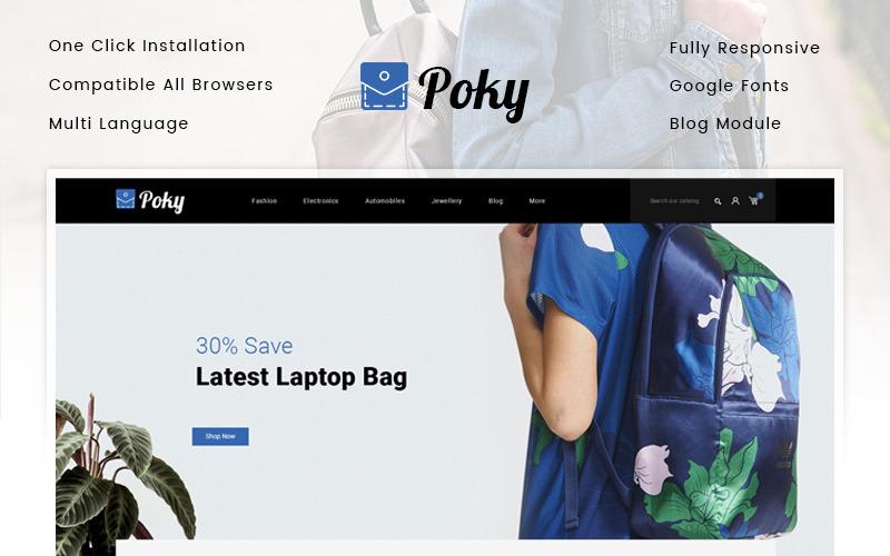 Poky - Tema de PrestaShop de Travle Bag Store