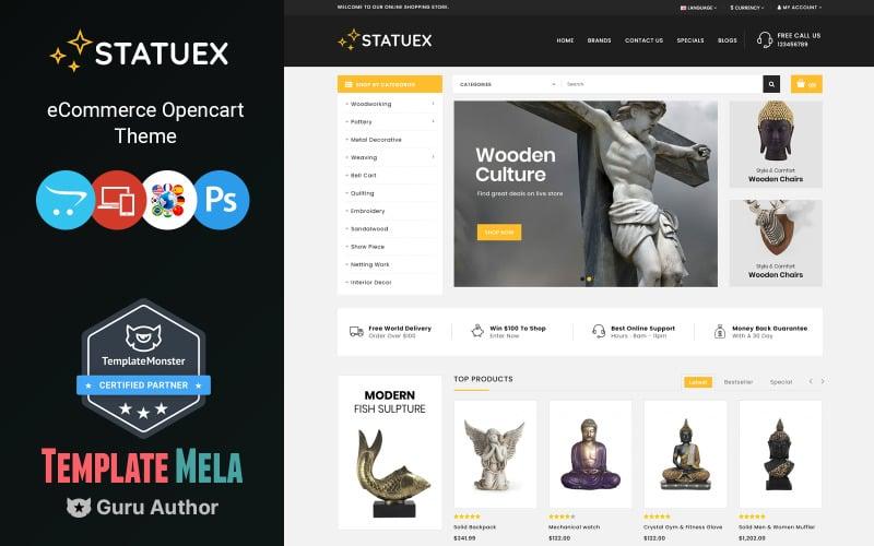 Statuex - Art Gallery Shop OpenCart-sjabloon