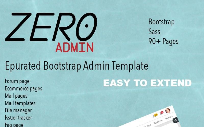 Zero Admin Template