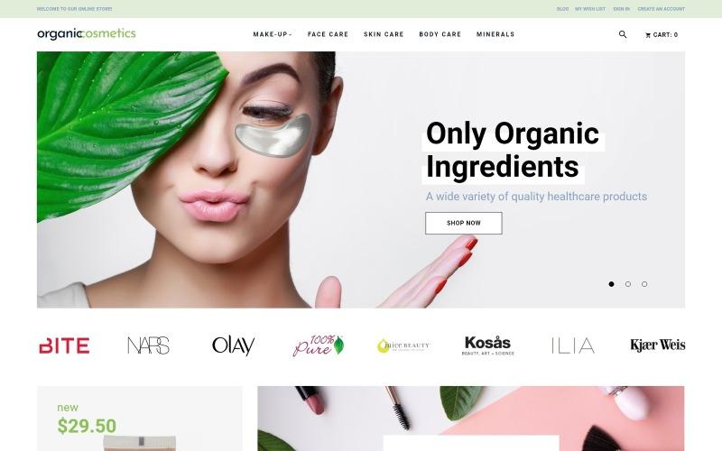 OrganicCosmetics - Reinigen Sie das Magento-Thema des E-Commerce-Kosmetikgeschäfts
