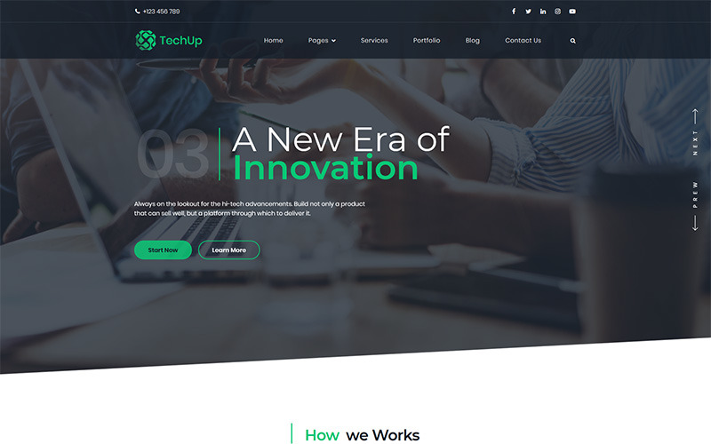 Techup - IoT i AI Tech Startup Motyw WordPress