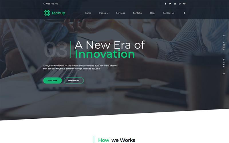 Techup - IoT und AI Tech Startup WordPress Theme