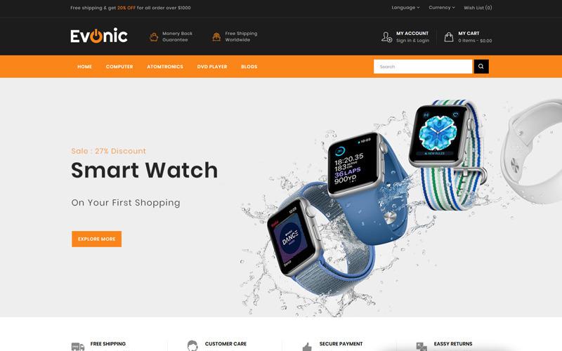 Evonic - Multifunctionele winkel OpenCart-sjabloon