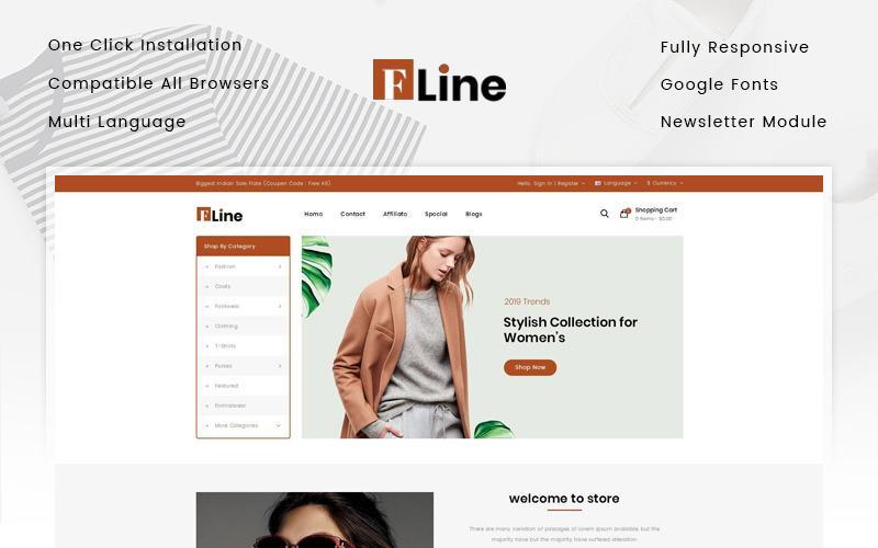 FLine - Modèle OpenCart de magasin de mode