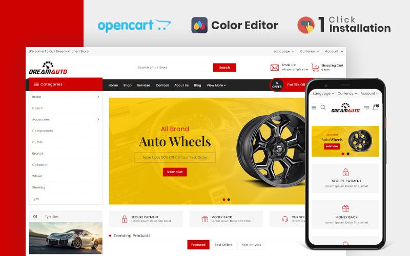 Modello OpenCart di Dream Autoparts Store