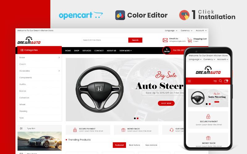 Plantilla OpenCart de Dream Autoparts Store