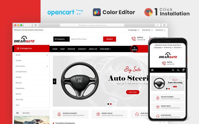 Szablon Dream Autoparts Store OpenCart