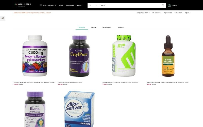 Wellneser - Medical Store Bootstrap Ecommerce Clean PrestaShop Theme