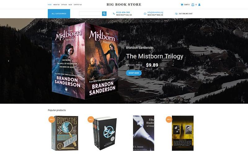 Big Book Store MotoCMS Ecommerce Template