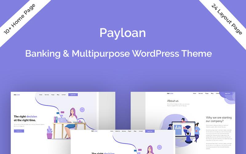 Payloan - Thème WordPress pour prêt bancaire et polyvalent