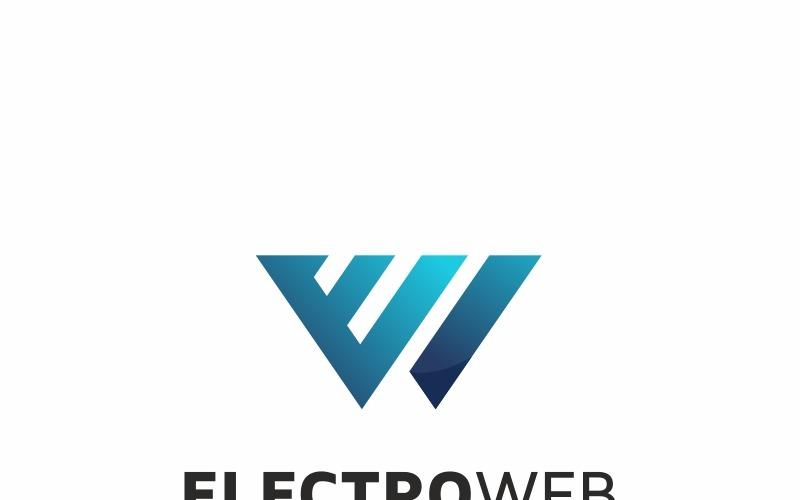 Szablon Logo litery E Electro Web