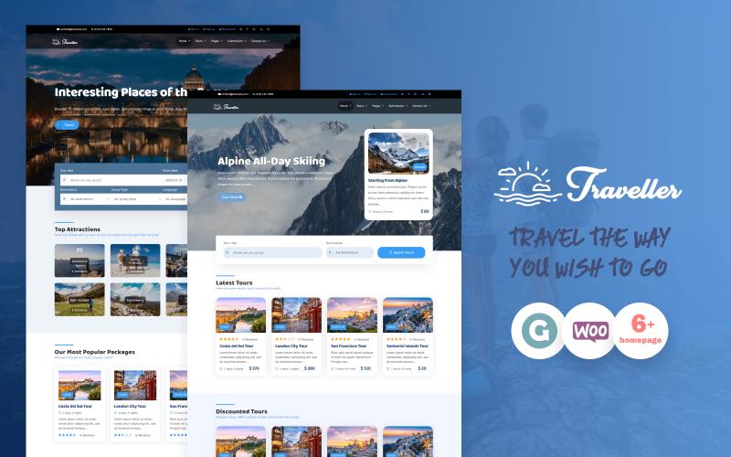 Traveller - Tour & Travel WordPress Theme