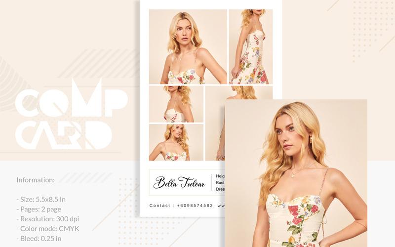 Bella Treloar - Modeling Comp Card - Corporate Identity Template